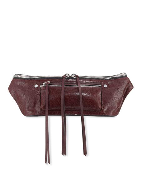 Elliott Crackle Leather Small Fanny Pack/Belt Bag