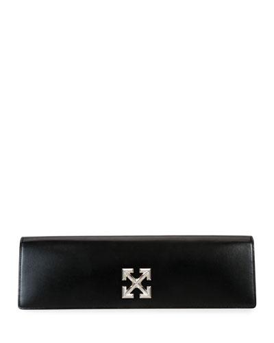 Jitney Leather Clutch Bag