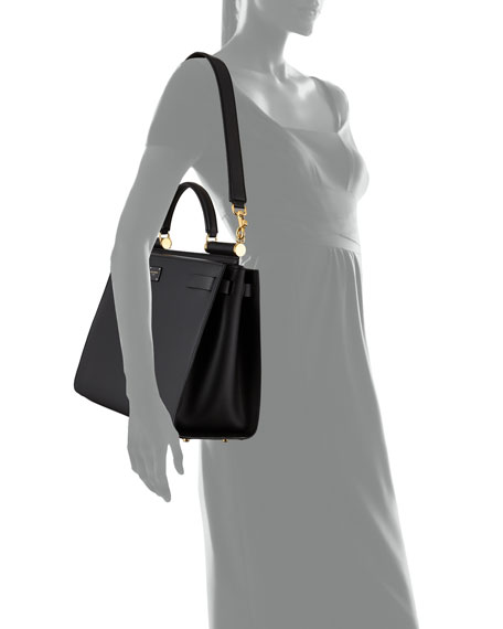Leather Shopping Tote/Top Handle Bag
