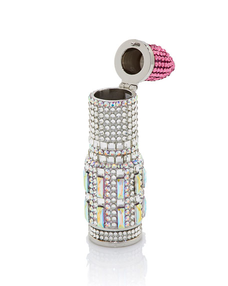 Lipstick Pinkie Crystal Pillbox