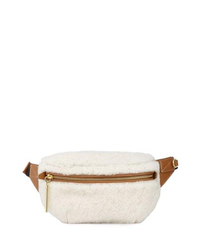 Shearling Slim Bum Belt Bag