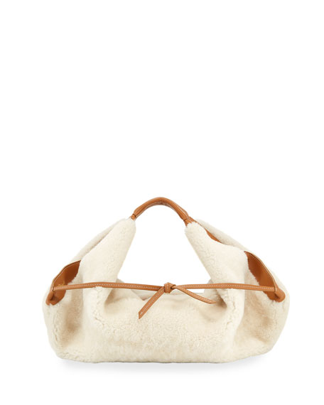 Luna Mini Slouchy Shearling Tote Bag