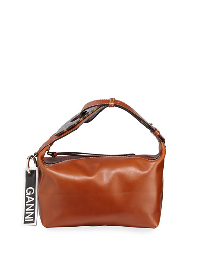 Smooth Small Buckle Satchel Bag