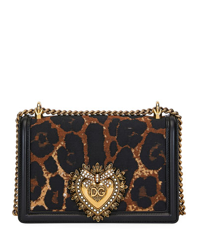 Leopard Jacquard Devotion Crossbody Bag