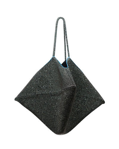 Flat Bag in Embroidered Silk