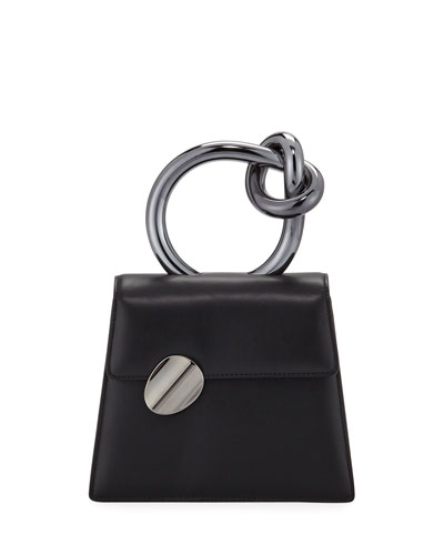 Brigitta Small Flap Top Handle Bag  Black