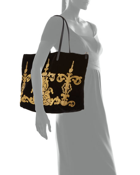 Embroidery Fabric Tote Bag