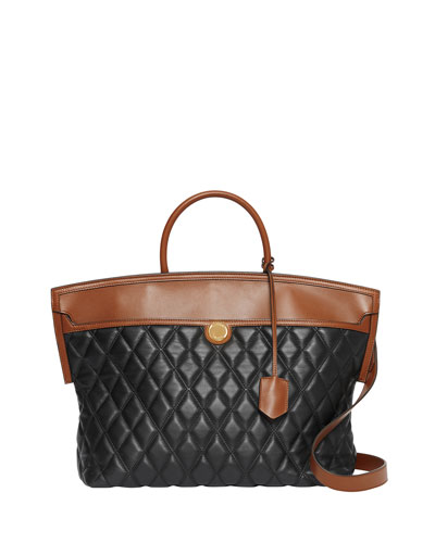 Argyle Quilted Leather Medium Top Handle Bag
