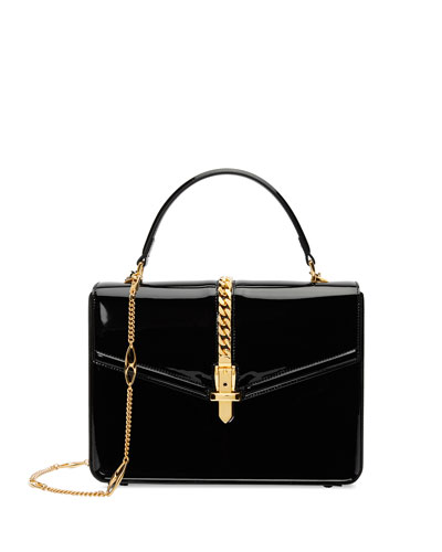 Sylvie Small  Patent Top Handle Bag
