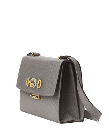 Zumi Small Python Shoulder Bag