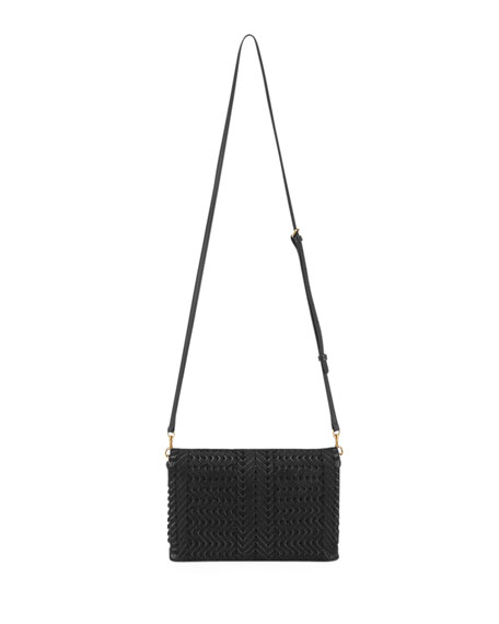 The Neeson Velvet Ribbon Crossbody Bag, Black