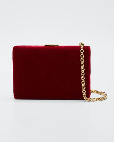 Velvet Card Case/Wallet, Red