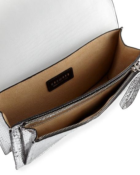 Bobby Metallic Python Clutch Bag