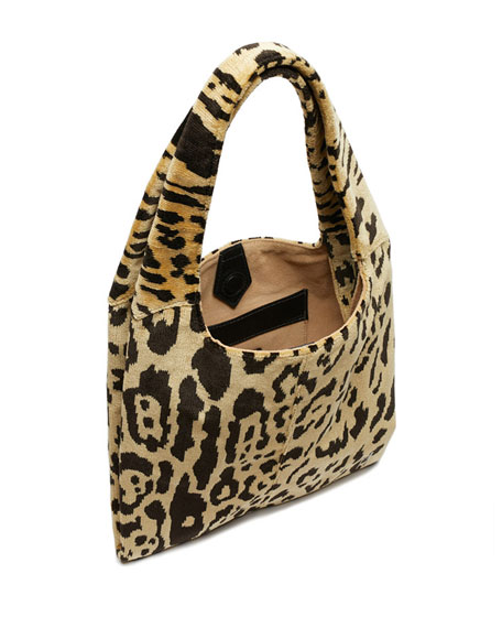 Medium Grand Shopper Leopard-Print Tote Bag