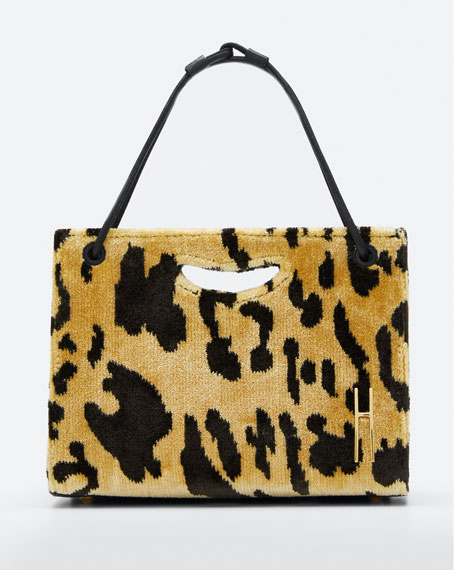 1712 Mini Leopard Basket Tote Bag