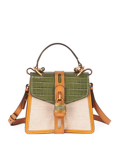 Aby Small Canvas Day Top-Handle Bag