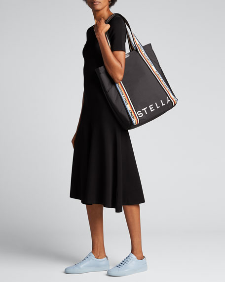 Logo Padded Nylon Medium Tote Bag