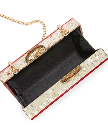 Girl's Harlequin Acrylic Box Clutch Bag