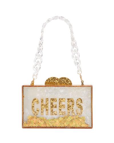 Girl's Cheers Acrylic Box Clutch Bag