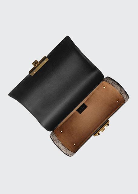 Padlock Small GG Supreme Bamboo Top-Handle Shoulder Bag