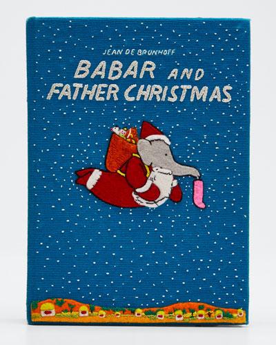 Babar and Father Christmas Clutch Bag