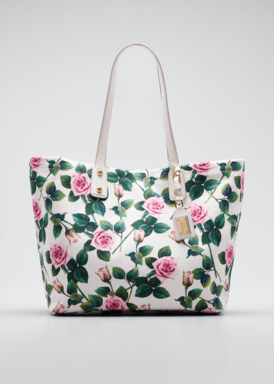 Tropical Rose Canvas Tote Bag