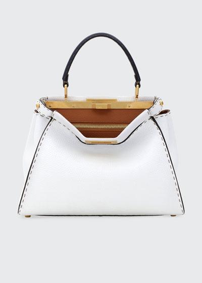 Peekaboo Medium Tricolor Leather Satchel Bag