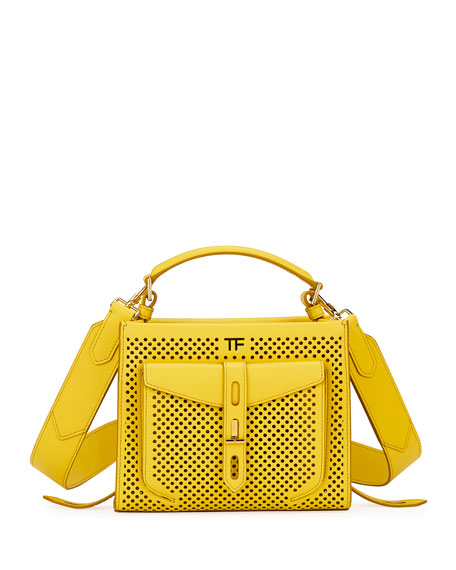 T Twist Mini Perforated Top-Handle Bag