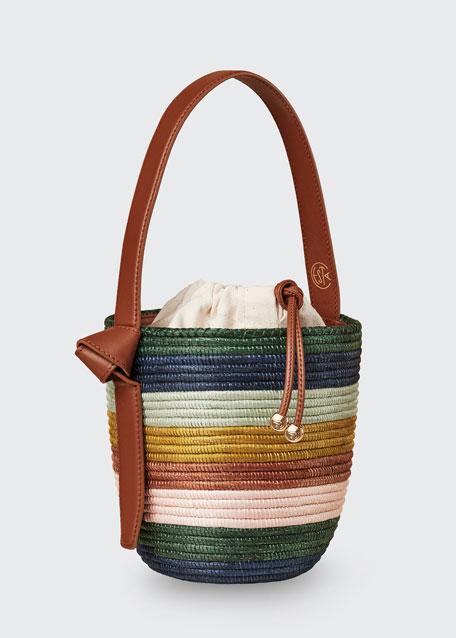 Striped Lunch Pail Bag