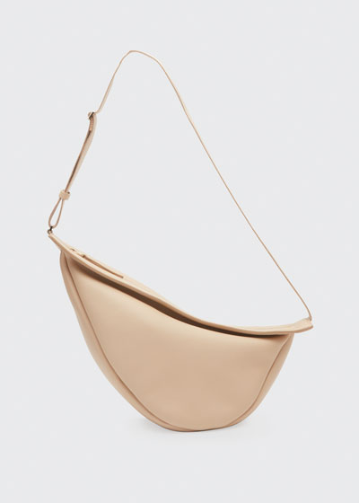 Large Slouchy Banana Bag in Luxe Grain Leather