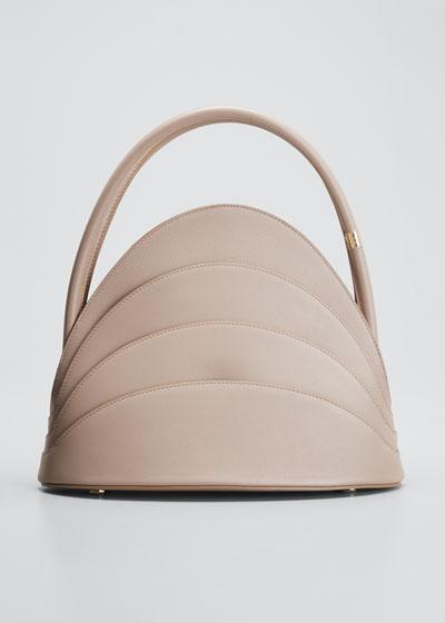 Millefoglie Leather Top-Handle Bag