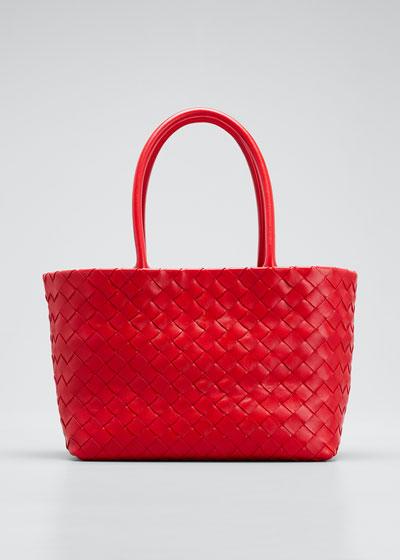 Mini Woven Top Handle Bag