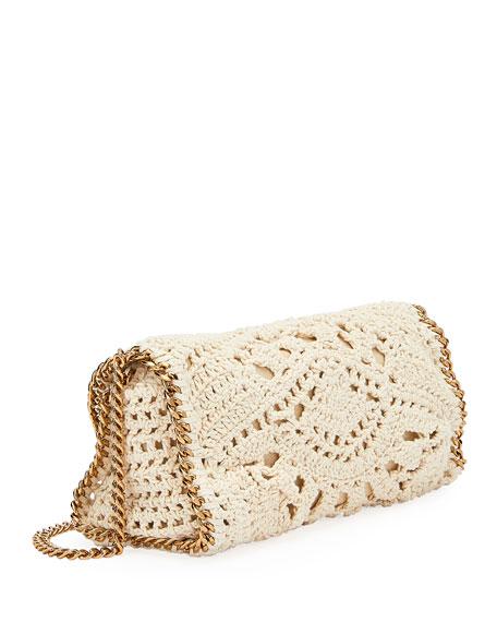 Falabella Mini Crochet Fold-Over Crossbody Bag