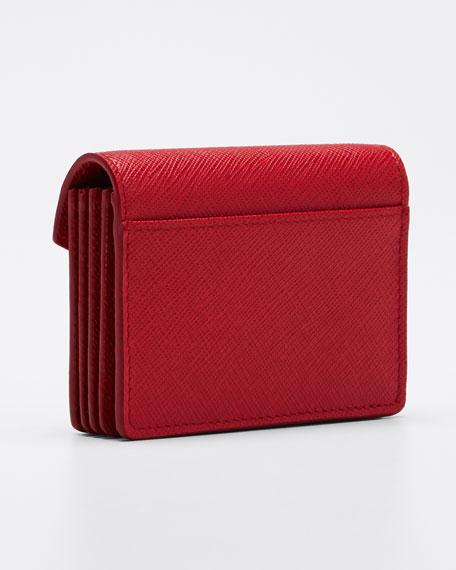 Saffiano Triangolo Small Wallet