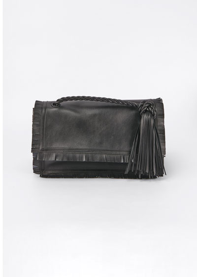 The Rope Fringe Leather Clutch Bag