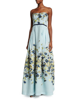 Floral Fil Coupe Fit-And-Flare Dress