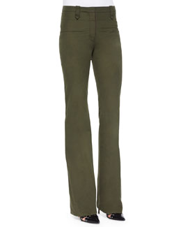 Serge Waxed Twill Flare Pants