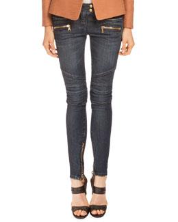 Classic Denim Moto Jeans