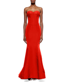 Strapless Sweetheart Bustier Gown