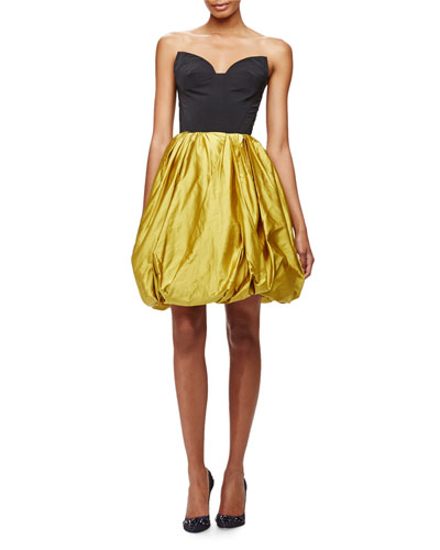 Strapless Sweetheart Cutout Bubble Dress