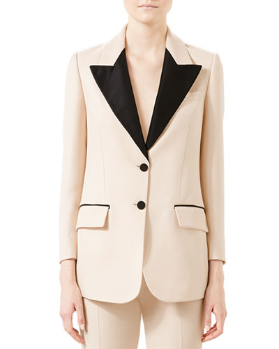 Wool-Silk Contrast Jacket
