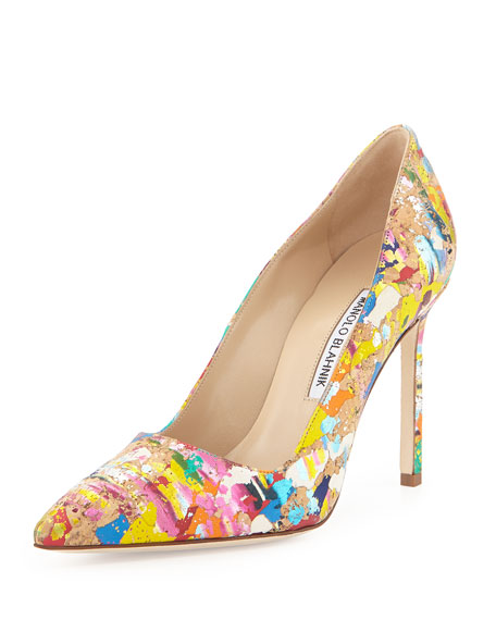 clearance online fake clearance 100% authentic Manolo Blahnik Paint Splatter BB Pumps VQo1dRQme