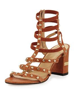 Rivetcleo Gladiator City Sandal, Camel