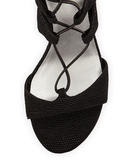 LegWrap Lace-Up Sandal, Black