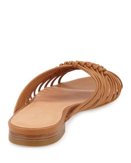 Aggie Woven Leather Slide Sandal