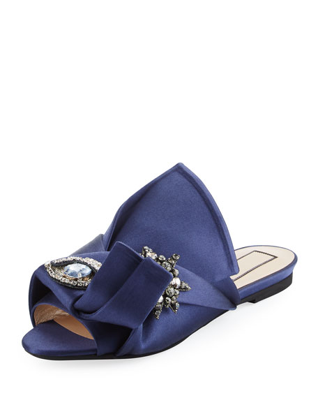 No21 Satin Flat Sandals dR6Pm