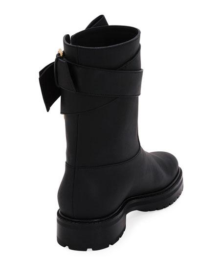 Now Wrap Vitello Biker Boot, Black
