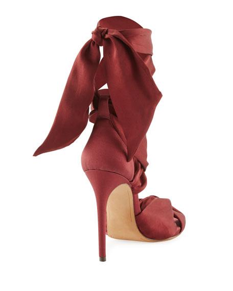 Katherine Knotted Satin Sandal