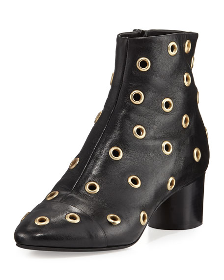 Isabel Marant Danay Studded Block-Heel Bootie, Black