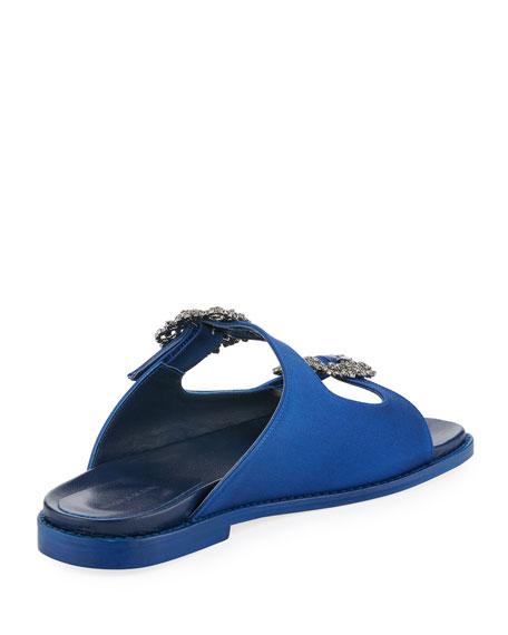 Sturlushangi Satin Slide Sandal
